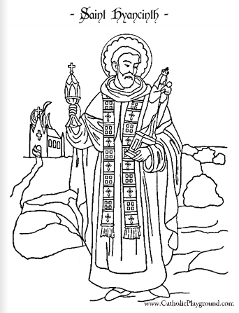 342x447 Saint Hyacinth Coloring Page August Catholic