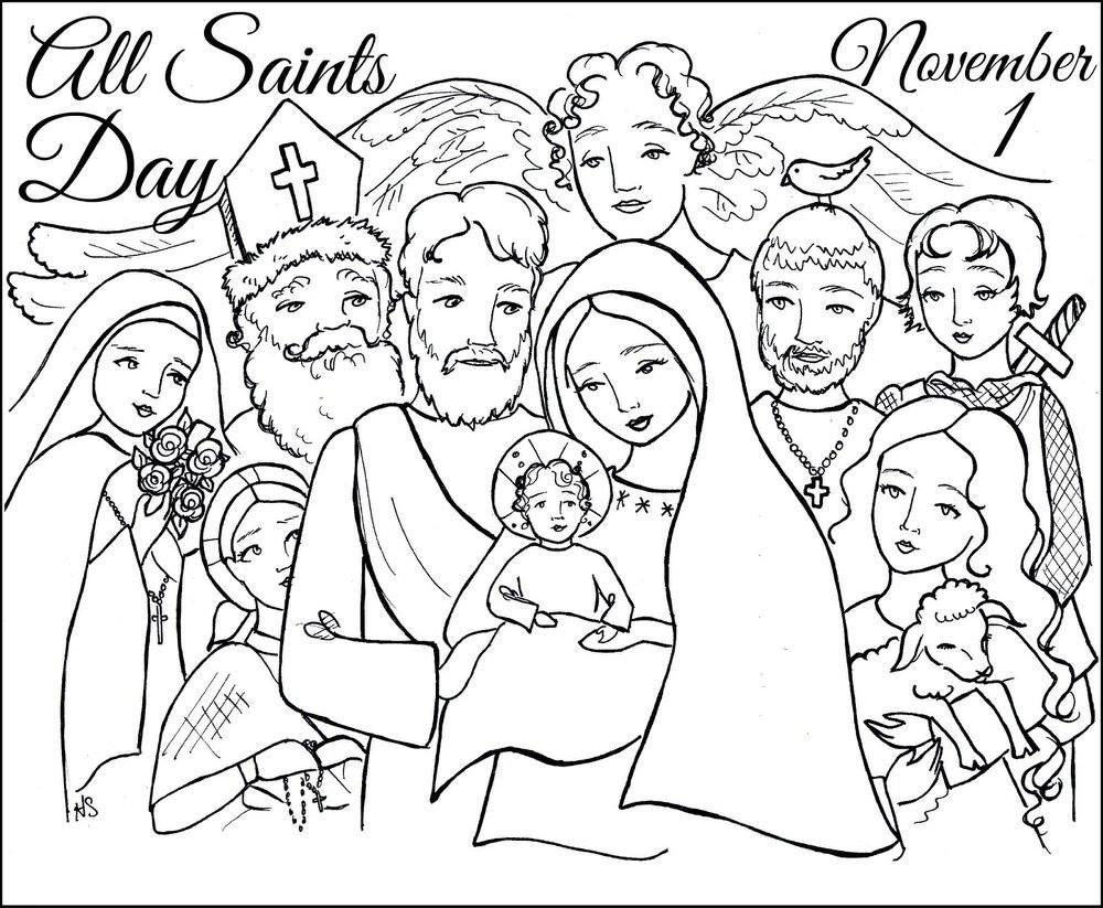 1000x823 All Saints Day Coloring Pages Awesome Page Of Printable