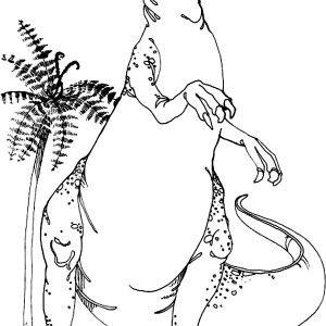 Allosaurus Coloring Page