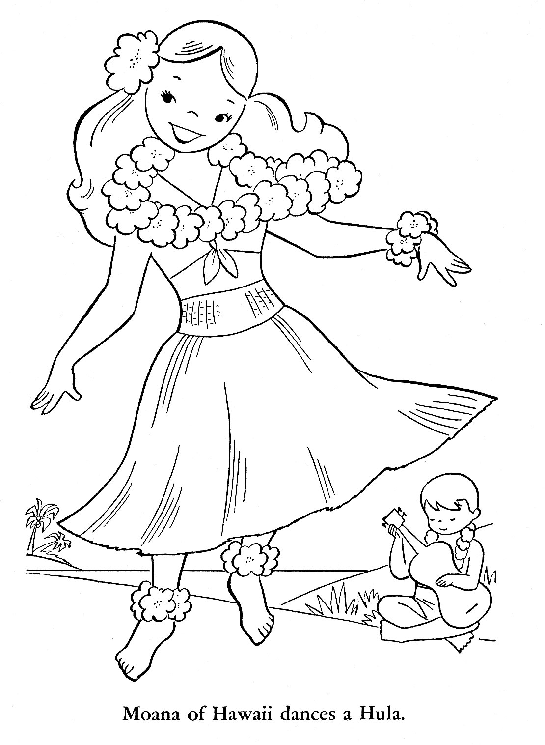 1110x1516 Coloring Pages Aloha Hawaii Page Free Printable Within