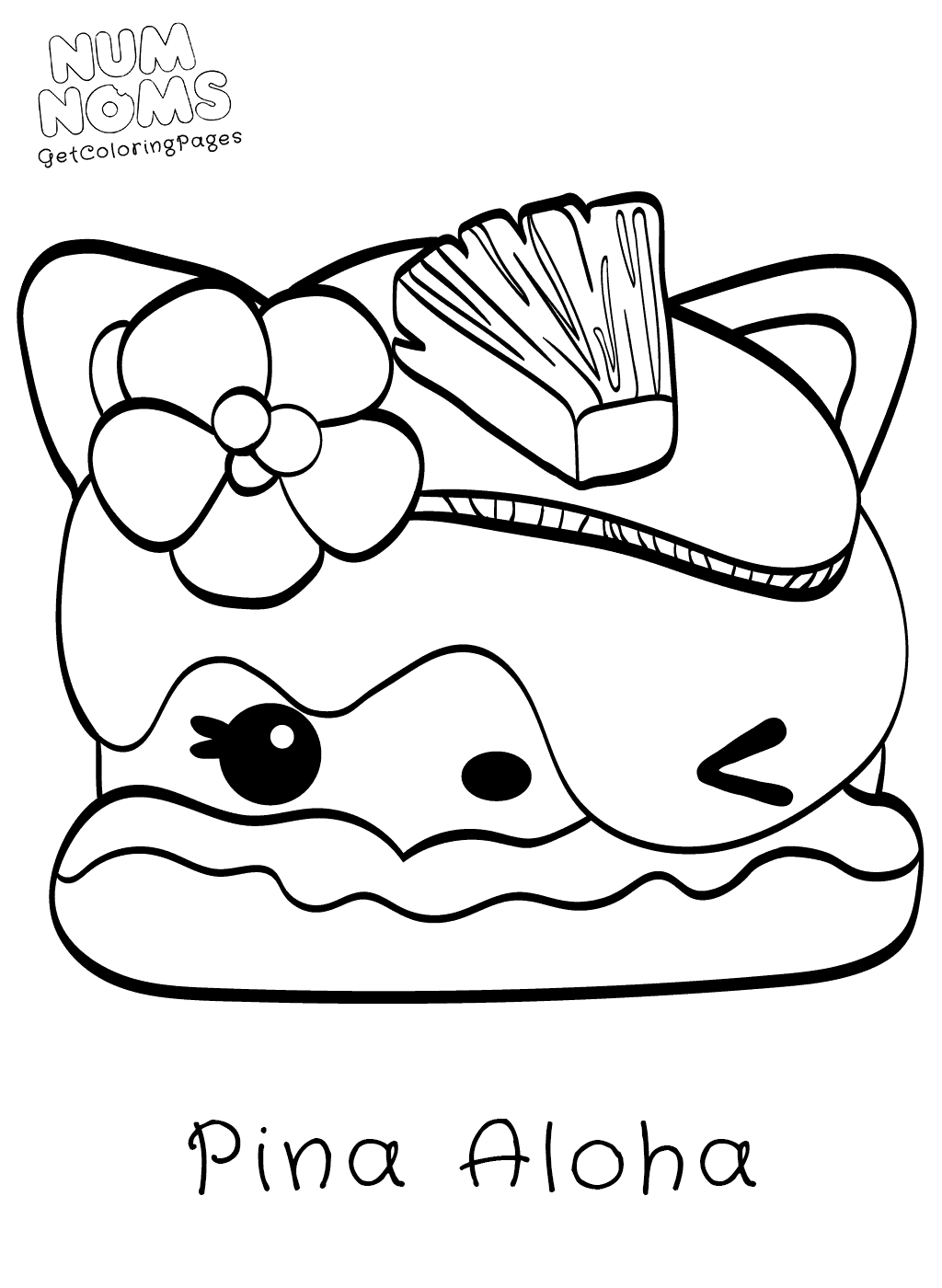 1024x1400 Cute Foods Toy Num Noms Coloring Page Pina Aloha