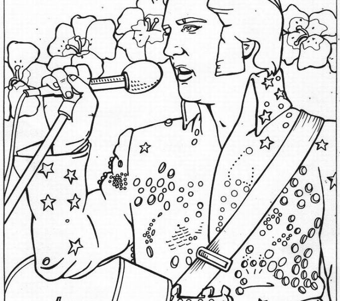 678x600 Elvis Coloring Pages Coloring Pages To Print Coloring Pages