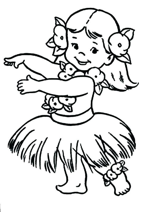600x806 Hula Girl Coloring Page Aloha Is Greet Colouring Page Hula Girl