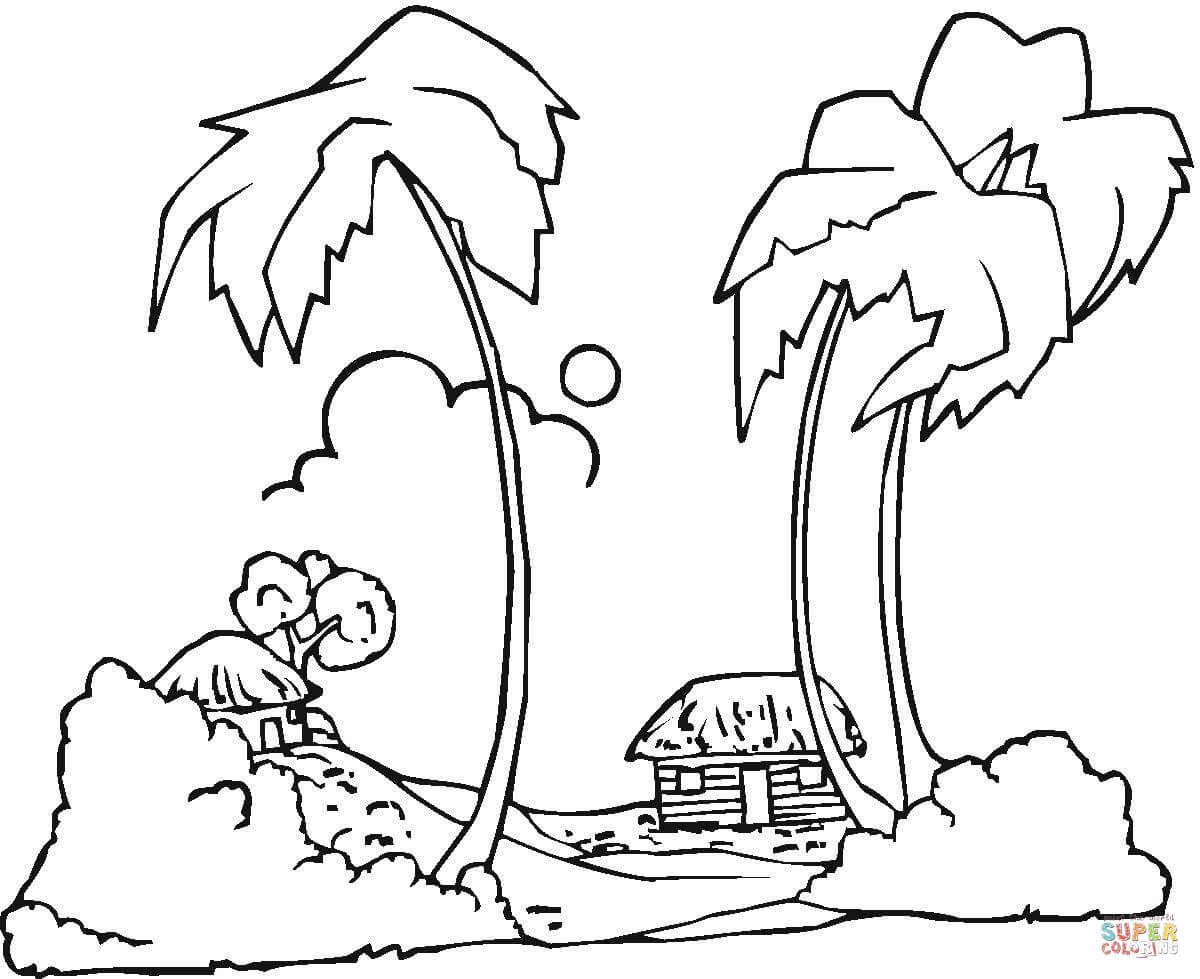 1200x979 Lovely Hawaii Coloring Pages For Adults With Beauteous Page