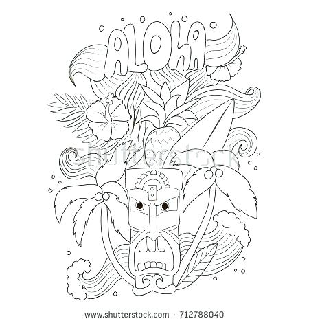 450x470 Tiki Mask Coloring Pages Simple Mask Coloring Pages New Cool