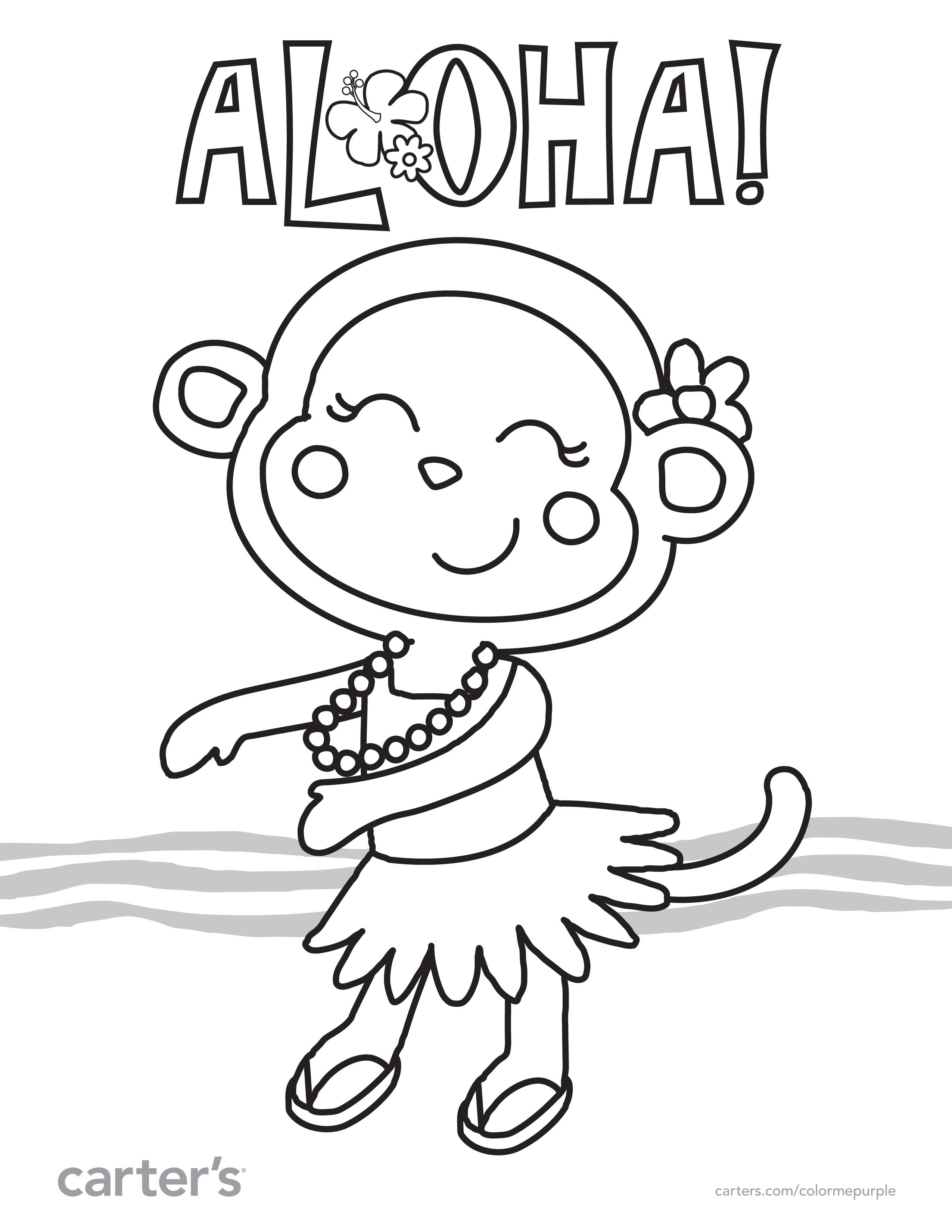 2550x3300 Aloha! Take This And Other Color Sheets On Vacation With You