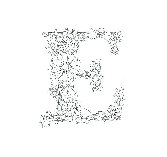 570x536 E Coloring Pages Letter E Coloring Sheets Adult Coloring Page