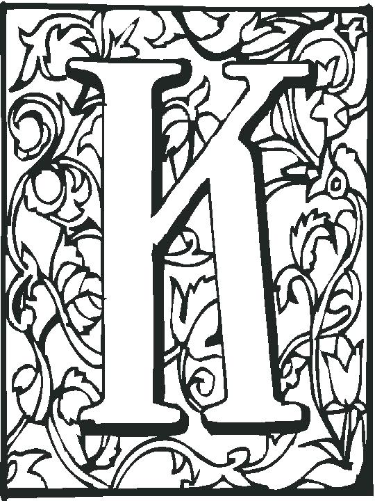 540x720 Illuminated Letters Coloring Pages