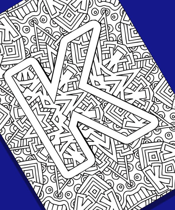 570x686 Alphabet Adult Coloring Pages