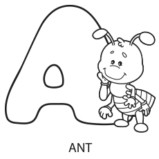 230x230 Alphabet Coloring Pages Your Toddler Will Love