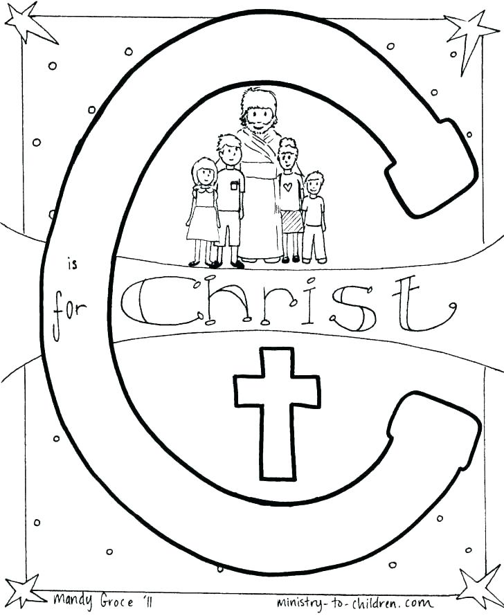 728x890 Bible Alphabet Coloring Pages Christian Coloring Pages For Kids