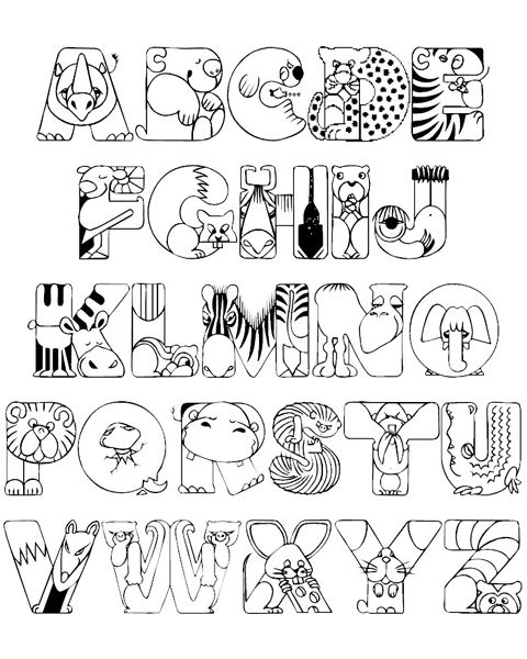 Alphabet Coloring Pages A