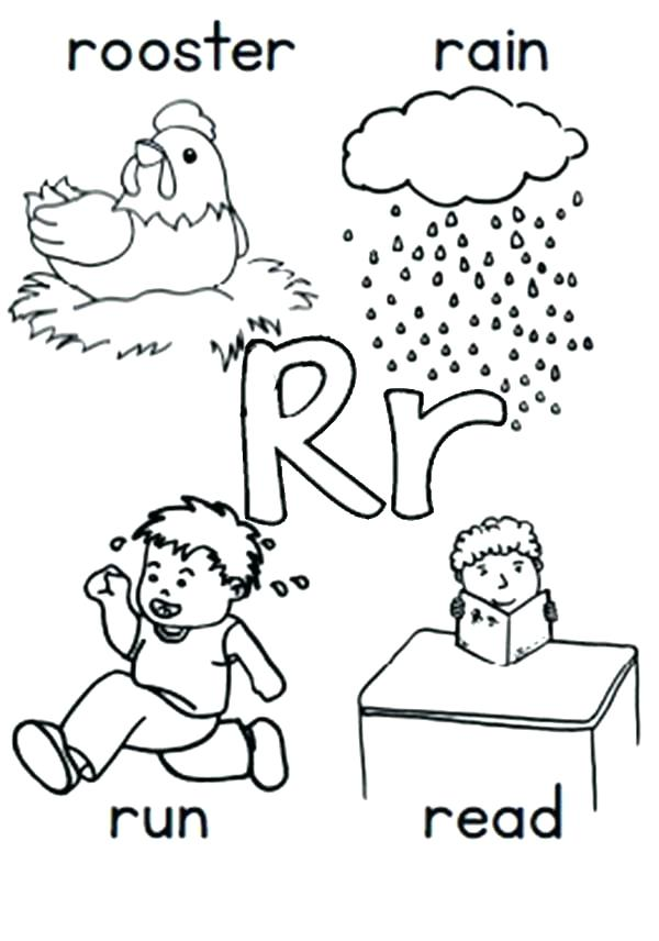 600x856 The Letter A Coloring Pages Letter R Coloring Pages The Letter R