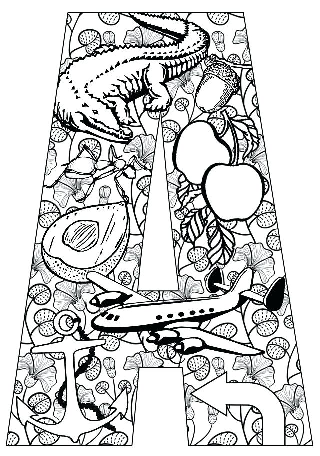 640x912 Alphabet Coloring Pages Fordults Modest Design Coloring Page