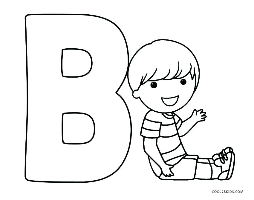 Alphabet Coloring Pages B