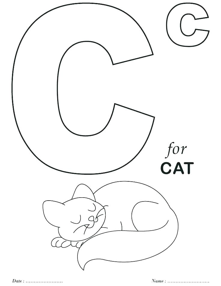 736x951 Letter C Coloring Pages Coloring Pages Letters Coloring Sheets