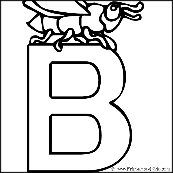 600x600 Alphabet Coloring Page Letter B Printables For Kids Free Word