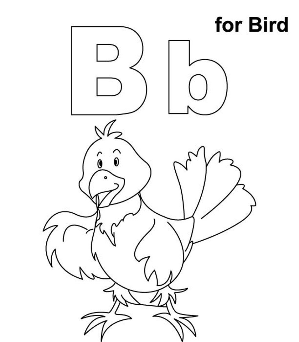 955x1090 Unique Alphabet Coloring Pages B Pictures