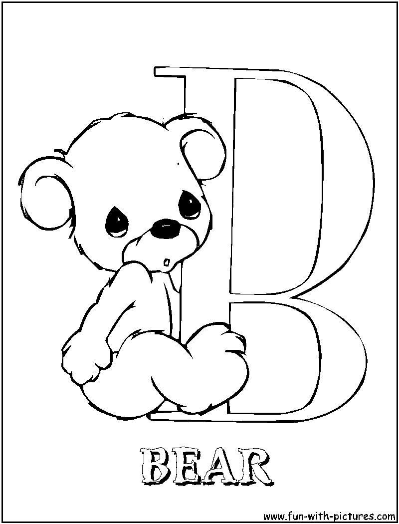 800x1050 Alphabet Coloring Pages B Coloring Sheets