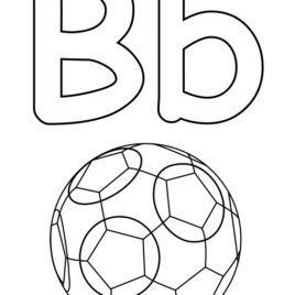 268x268 Alphabet Coloring Pages Letter B Archives