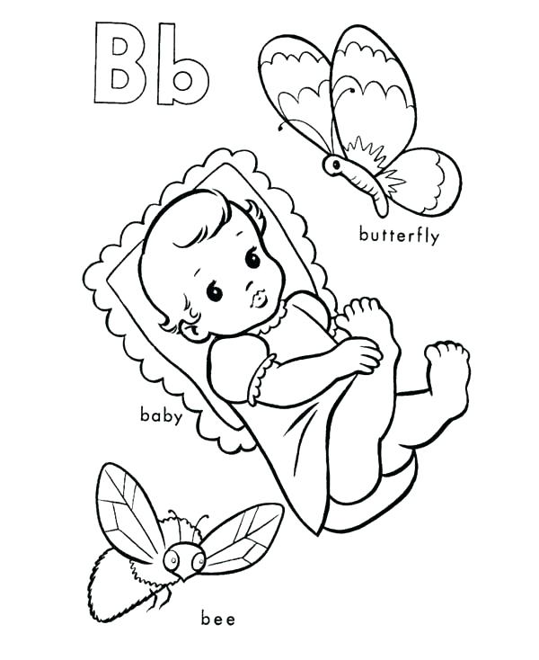600x734 Alphabet Coloring Pages Pdf Letter B Coloring Page Learning Letter