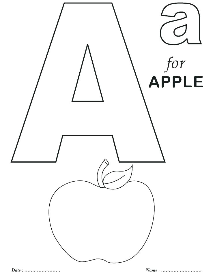 738x954 Alphabet Letter Coloring Pages Alphabet Coloring Alphabet Letter