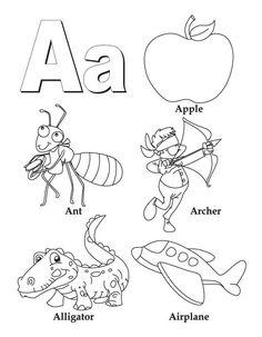 236x303 Neoteric Alphabet Coloring Pages Az Book Az Letter Books