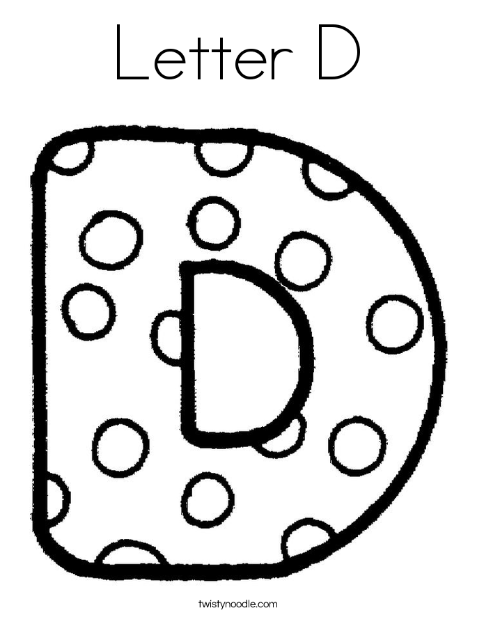 685x886 Letter D Coloring Sheet