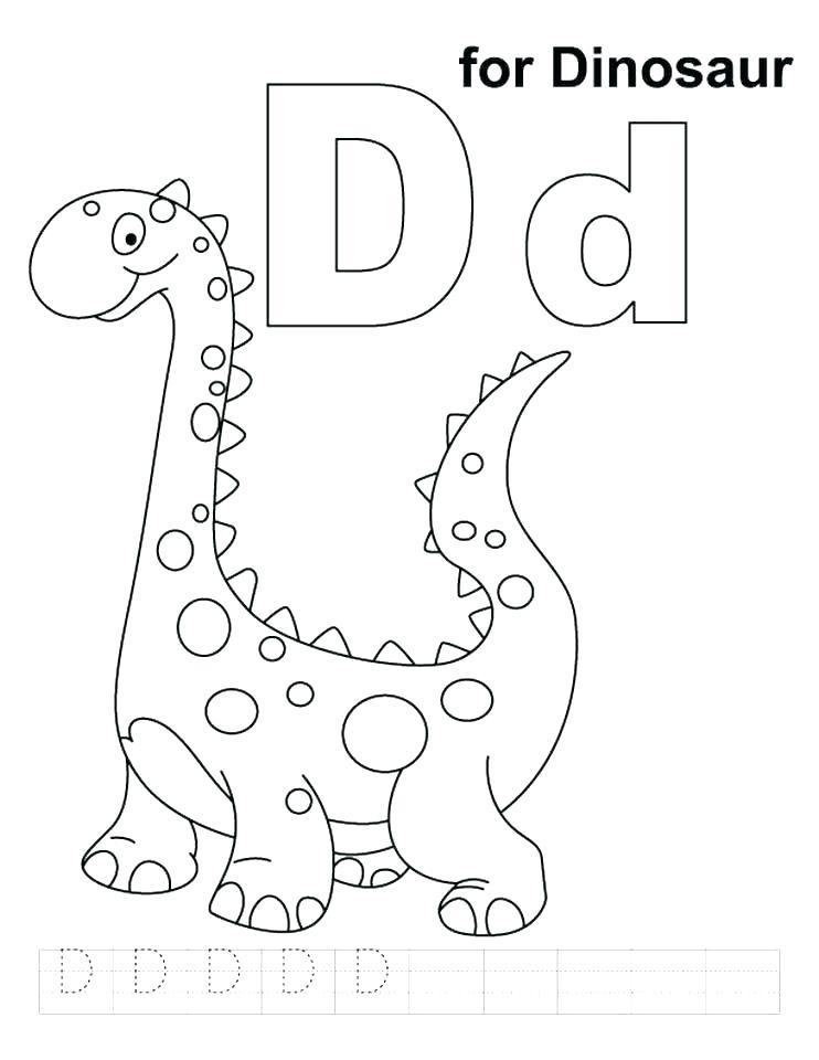742x960 Letter D Coloring Sheet