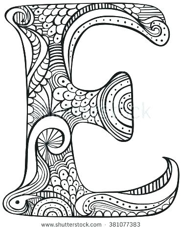 Alphabet Coloring Pages E At Getdrawings Com Free For Personal Use