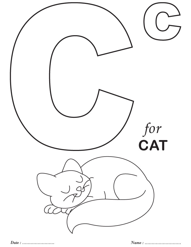 Alphabet Coloring Pages For Kids At GetDrawings Free Download
