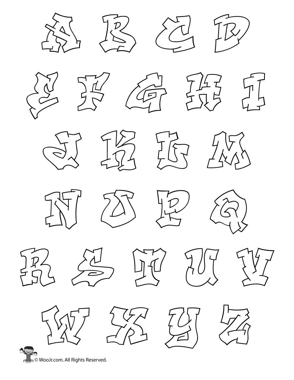 1000x1294 Bubble Letters Graffiti Alphabet Graffiti Alphabet Style Bubble