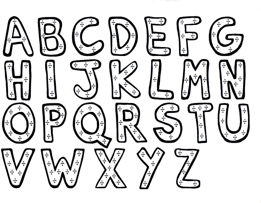 846x660 Coloring Pages Alphabets Printables Alphabet Coloring Pages