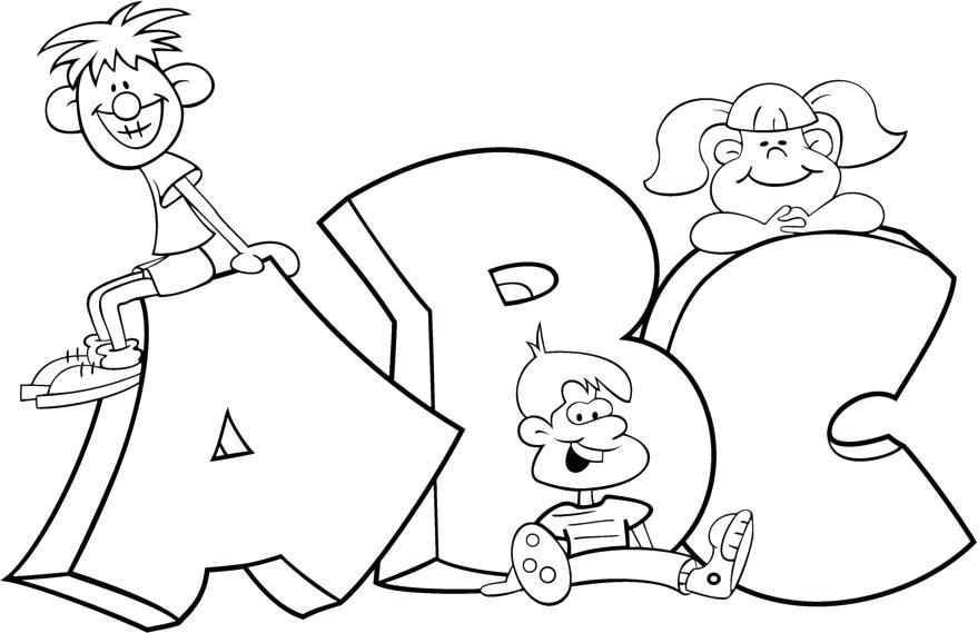 879x569 Free Online Alphabet Colouring Pages Printable Coloring For Kids