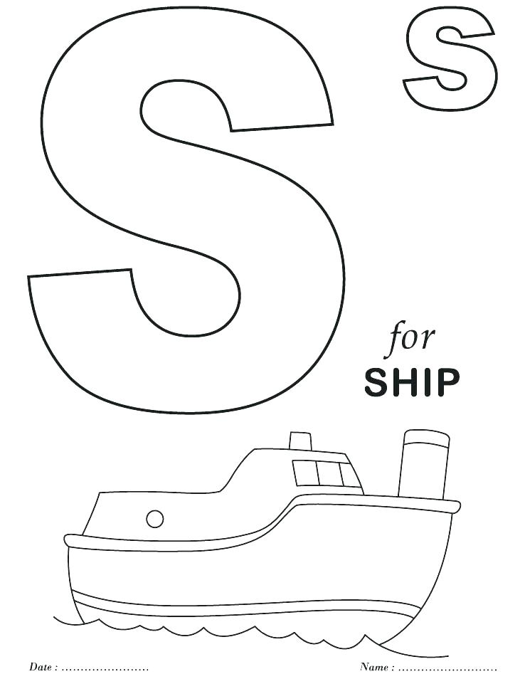 738x954 Letters Coloring Pages Printable Printable Alphabet Coloring Page