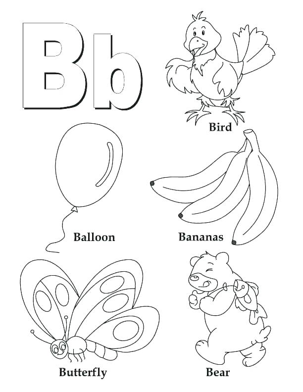 Alphabet Coloring Pages For Kids at GetDrawings.com | Free ...