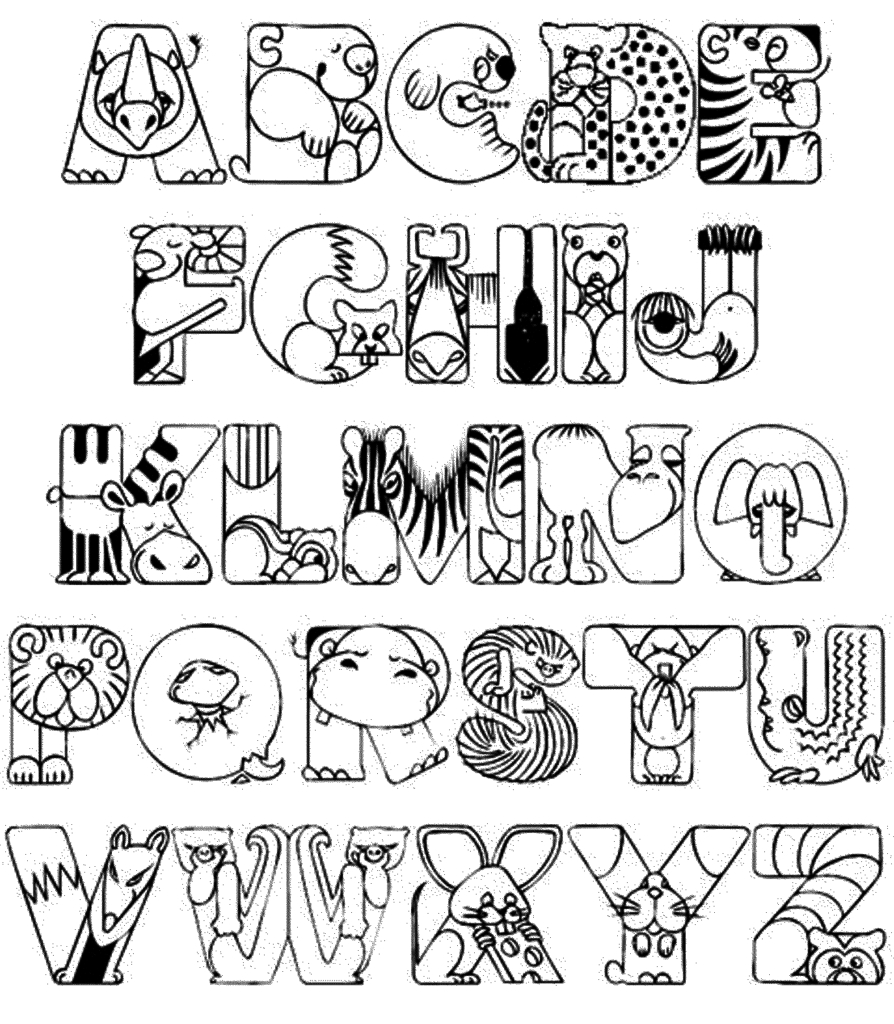 894x1024 Awesome Alphabet Coloring Pages For Toddlers Design Free