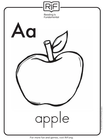 360x480 Free Alphabet Coloring Pages