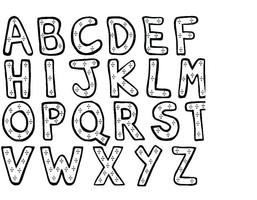 846x660 Printable Alphabet Coloring Pages For Toddlers Travelsonline Info