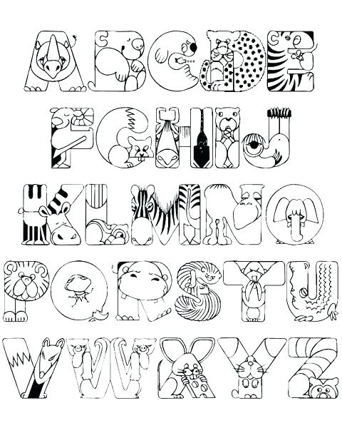 480x600 Alphabet Coloring Pages For Toddlers Alphabet Coloring Books