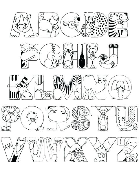 Alphabet Coloring Pages Pdf