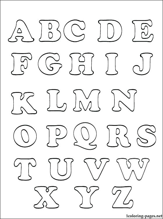 Alphabet Coloring Pages Pdf at GetDrawings | Free download