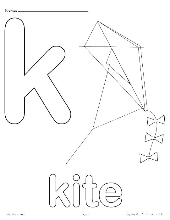 541x700 Letter K Coloring Pages Alphabet Coloring Pages Preschool Letter K