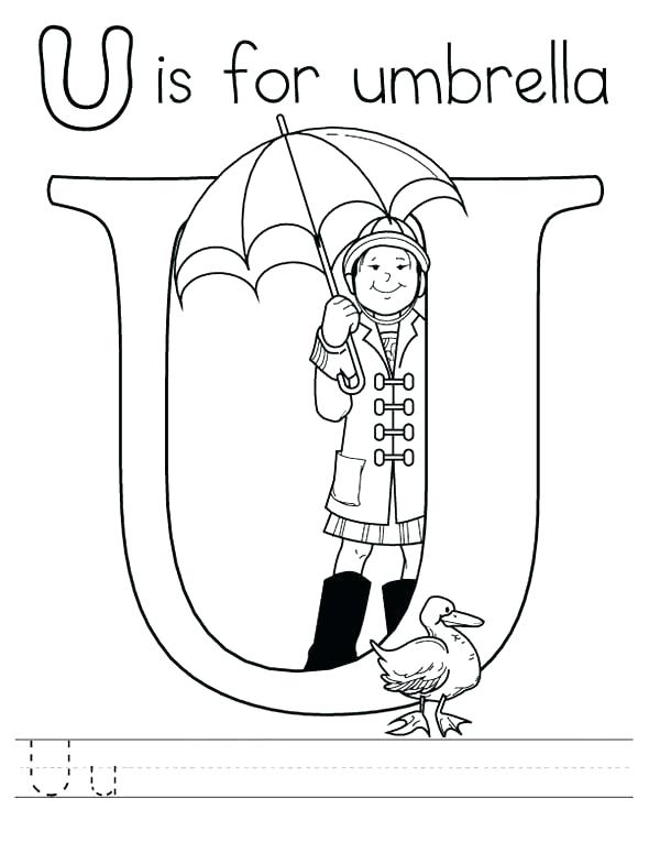 600x775 Letter U Coloring Sheets Alphabet Coloring Pages Free Letter U