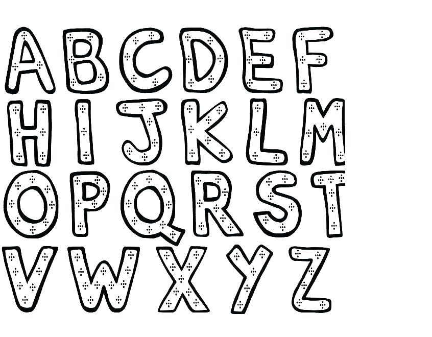 846x660 A To Z Alphabet Coloring Pages Alphabet Coloring Pages A Z