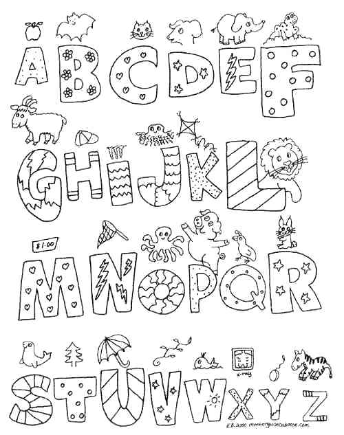 500x633 Alphabet Color Pages Farm Alphabet Coloring Pages Free Printable