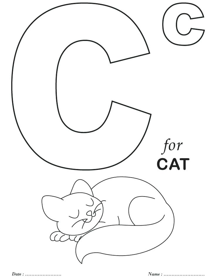 736x951 Alphabet Coloring Pages Preschool Coloring Pages Free Printable