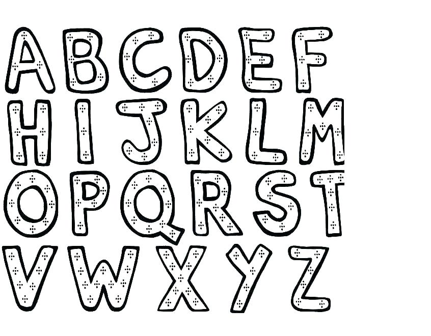 846x660 Alphabet Coloring Pages Preschool Preschool Alphabet Coloring