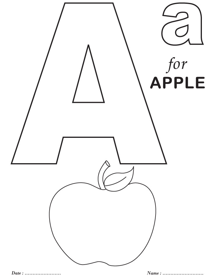 738x954 Letter A Coloring Pages For Preschoolers Printable Alphabet
