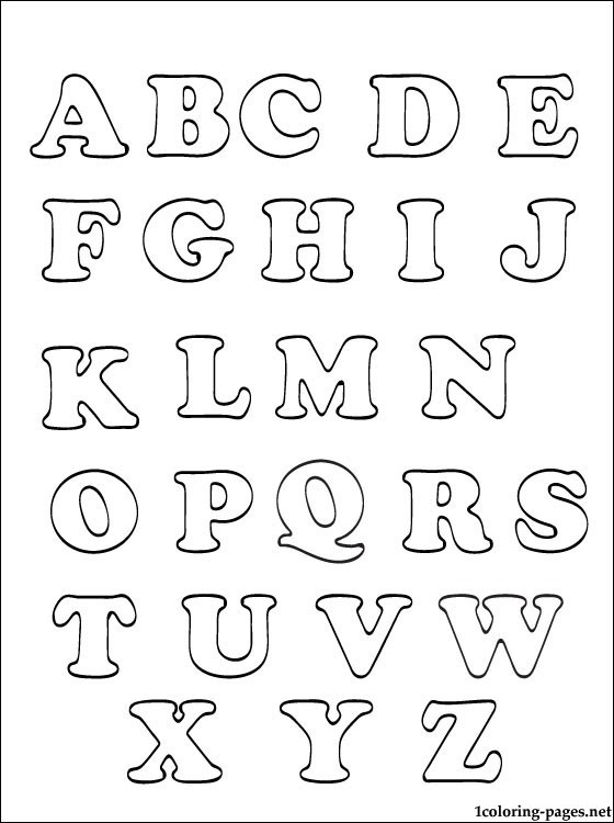 560x750 Printable Alphabets For Kids Coloring Pages Alphabets